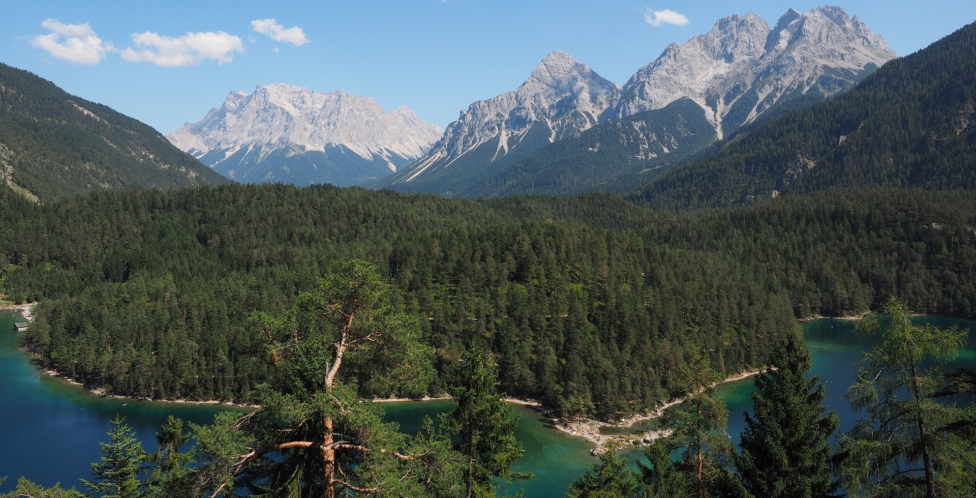 River, Forest, Mountains